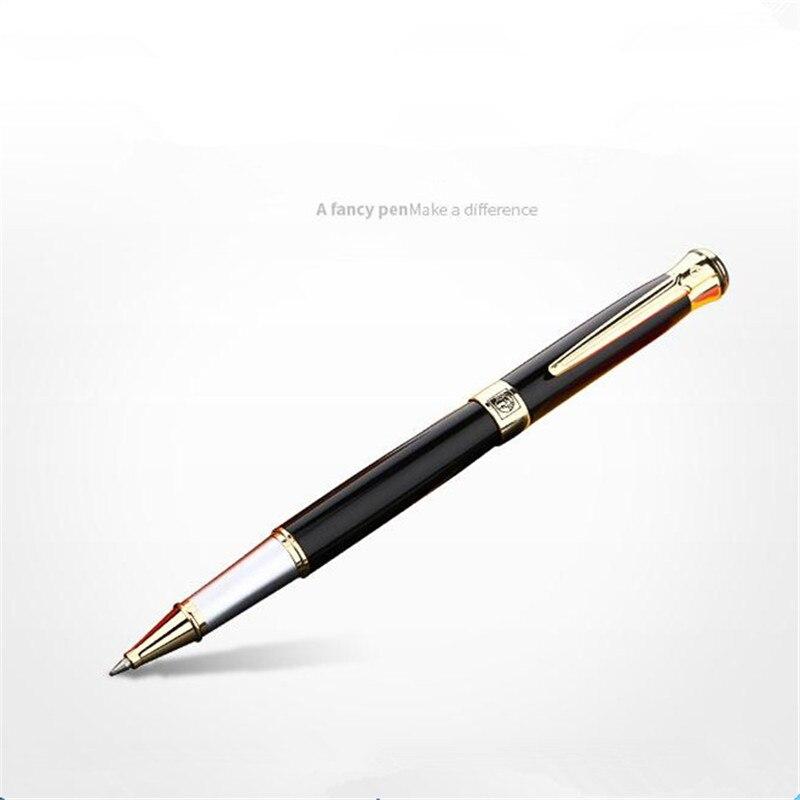 1 pc/lot Picasso 903 Noir Roller Ball Pen Or Clip Pimio Stylos Suède Fleur Roi Canetas Papeterie Métal Hommes Cadeaux 13.6*1.3 cm