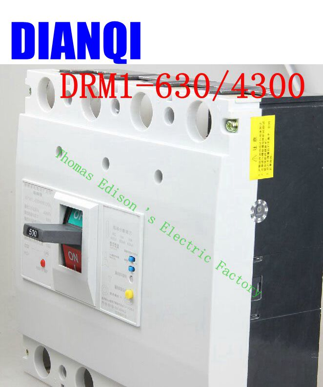CM1-630/4300 MCCB 400A 500A 630A molded case circuit breaker CM1-630 Moulded Case Circuit Breaker three phase four wire earth leakage circuit breaker dz20le 630 4300 500a 4p