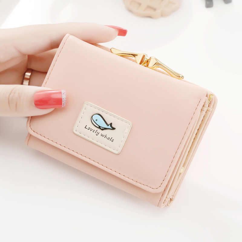 Новое поступление, Модный женский кошелек, маленькие кошельки короткий дизайн, простой милый кошелек для монет, три сложения, многофункциональный кошелек