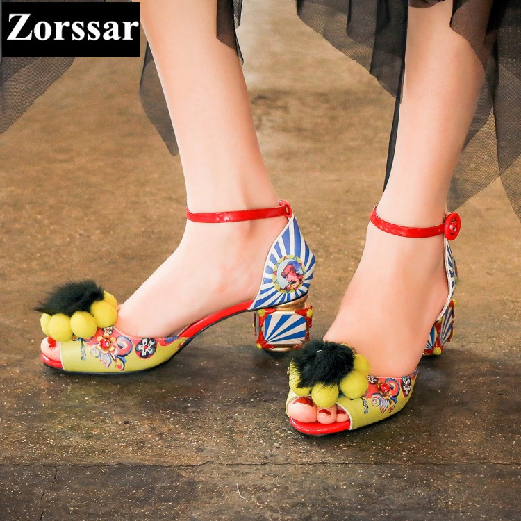 {Zorssar} Brand 2017 NEW Summer Womens shoes lady Peep toe high heels  sandals Fashion Ethnic style women Wedding shoes B325 zorssar brand 2017 high quality sexy summer womens sandals peep toe high heels ladies wedding party shoes plus size 34 43