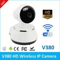 V380 אלחוטי 720 P פאן הטיה אבטחת רשת טלוויזיה במעגל סגור בית מעקבים ראיית לילה WiFi מצלמת IP מצלמה בייבי מוניטור ש