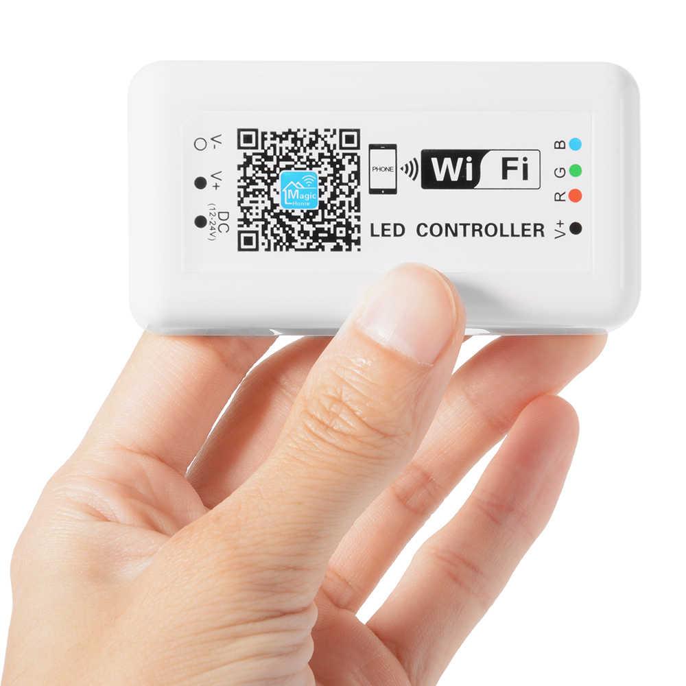BOLEDENGYE SMD 2835 LED Tape Ribbon + WiFi RGB LED Điều Khiển 12 V 60 leds/m Flexible RGB Dải chiếu sáng + 12 V Adapter Cho Nhà