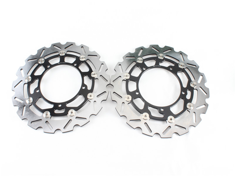 1 Set Motorcycle Front Brake Disc Rotor For S U Z U K I GSF650/S/ABS/ DL650 V-STROM 2007-2012 GSX650F / ABS 2008-2012 09 10 11