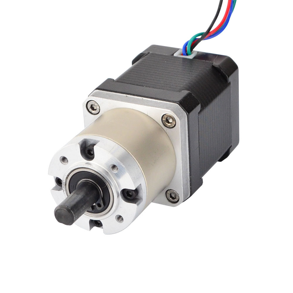 Nema 17 Geared Stepper Motor Bipolar L=48mm w/ Gear Ratio 27:1 Nema 17 gearbox planetary reduction gearbox 57mm planetary gearbox geared stepper motor ratio 10 1 nema23 l 56mm 3a