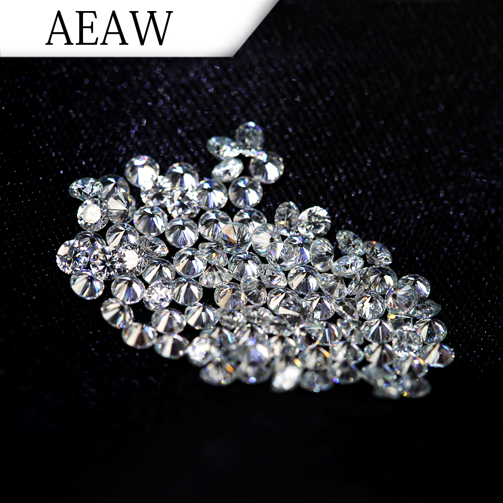AEAW 1.9mm Total 1 CTW carat DF Color Certified Lab Grown Moissanite Diamond Loose Bead Test Positive Fine Jewelry