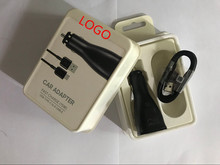100pcs/lot 100% Genuine original 15w 9V-1.67A or 5V-2A USB Fast Car Charger Adapter With 1.2m micro usb cable For S8 7