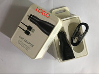 100pcs/lot 100% Genuine original 15w 9V 1.67A or 5V 2A USB Fast Car Charger Adapter With original 1.2m micro usb cable For S8 7