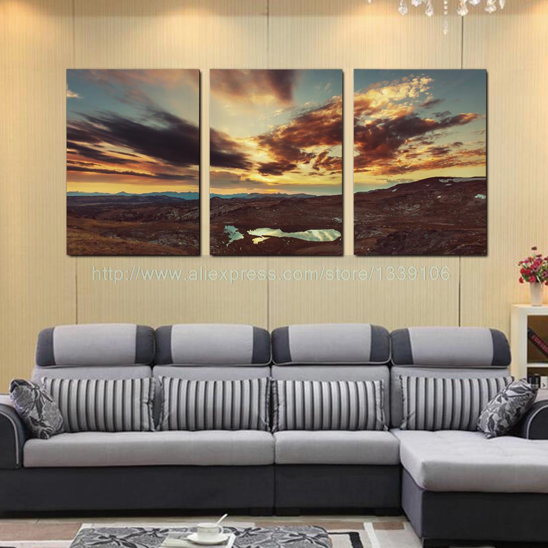 Modern Painting For Living Room Aliexpresscom Buy Unframed Modern Style Desert Oasis Print