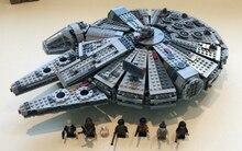 05007 Star Wars Millennium Falcon marvel Figura Juguetes kits de edificio Modelo bloques Niños Juguetes Compatible con lego