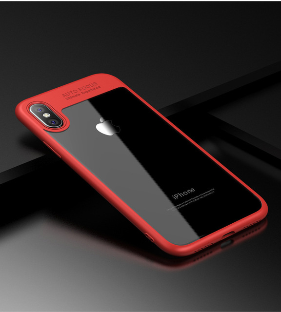 New for IPhone X 6 6p 7 7p Mobile Phone Case Phone Protective Cover Silicone Transparent TPU Border Acrylic Back Phone Case