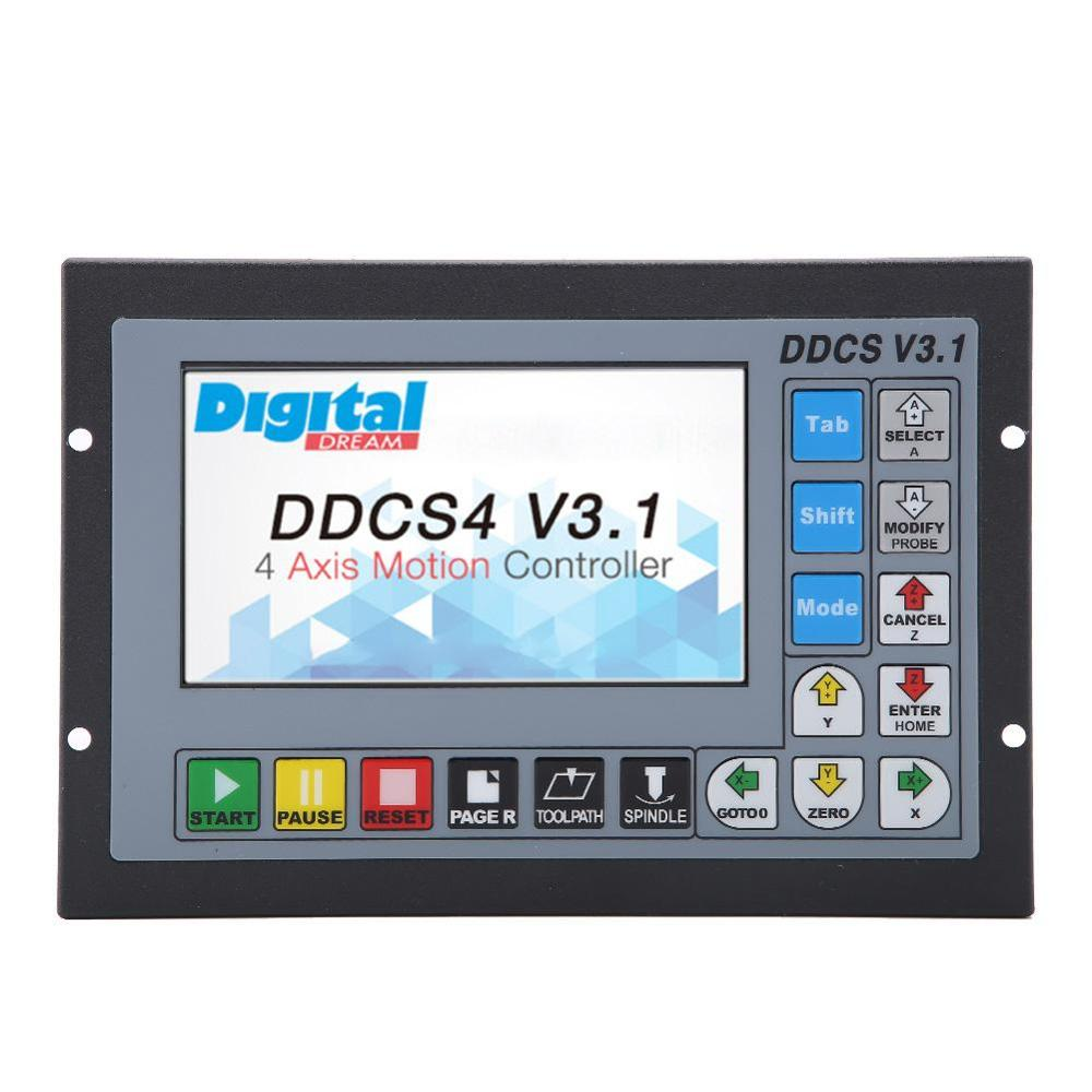 3 4 Axis 500Khz CNC Motion Controller DDCSV3 1 Offline Operate 1GB Internal G code Support