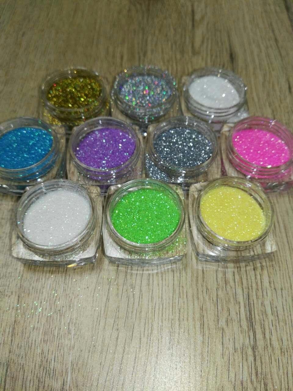 10 Farben 0,2mm Holographische Glitters Nagel Hologramm Glitter Staub Pulver Nägel Kunst Holo Glitter Pulver Nagel Glitters Dekorationen Nails Art & Werkzeuge