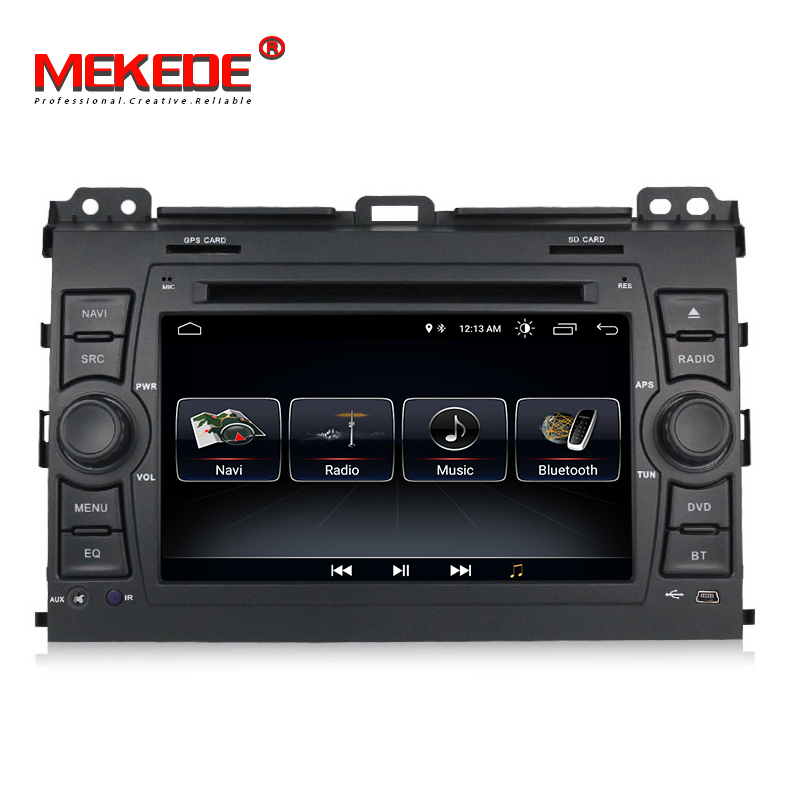 MEKEDE 1024x600 HD player Multimídia Carro din Auto DVD android 8.1 7 2 Polegada Para Toyota/Prado 120 2004-2009 Rádio GPS BT RDS
