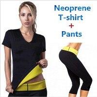 Pants T Shirt Super Hot Shapers Control Panties Shorts Women Stretch Neoprene Shirt Sweat Slimming