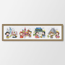 Travel around the world Russia Counted & Stamped Cross stitch kits DIY embroidery needlework home decoration cartoon picture