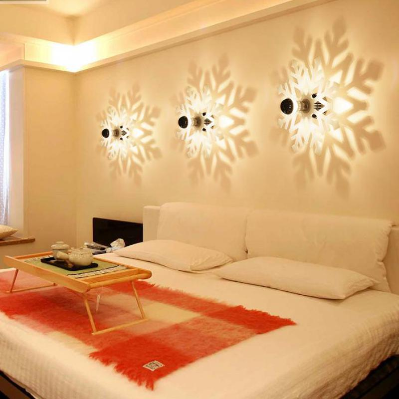 Modern Led Snowflake Wall Fixture Porch Light Bedroom Ceiling Fixtures  Corridor Balcony Wall Sconce Home Colored Acrylic Shadow In Wall Lamps From  Lights ...