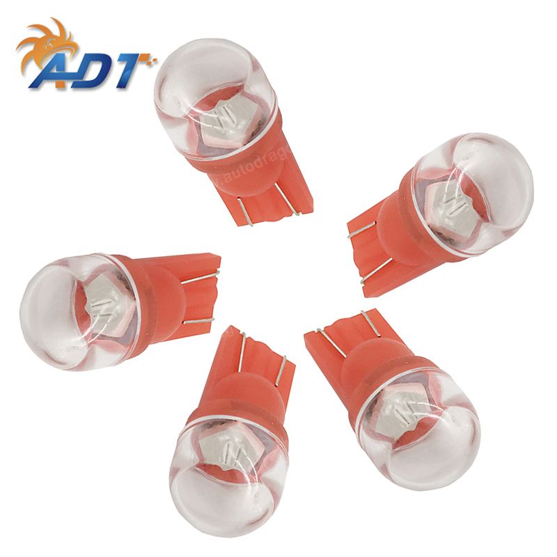 20PCS led pinball AC 6.3V bright #555 t10 wedge non flicker Clear round lens SMD 1*5050 3 chips