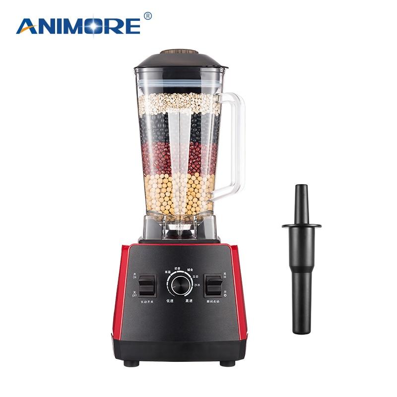 Smoothies ANIMORE Home Profissional Power Mixer Liquidificador Espremedor de Frutas 1200 W Processador de Alimentos 220 V 1.7L Poderoso Liquidificador