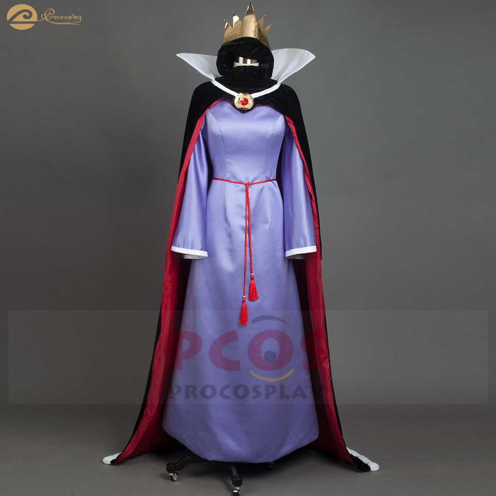 Snow White and the Seven Dwarfs costumes Snow White stepmother silk & pleuche the evil queen classical cosplay costume mp004178