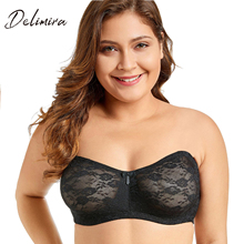 Women's No Padding Convertible Basic Sheer Underwire Multiway Strapless Lace Bra