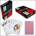 100 De Plástico jogando cartas de Poker atacado Azul e Vermelho Cartões De Poker Texas Hold'em Jogando Cartões de Jogos de Cartão de Plástico PVC Impermeável