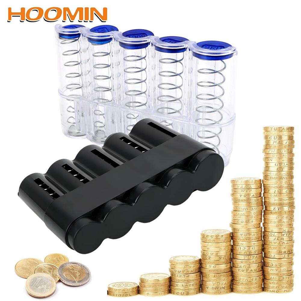 HOOMIN Storage Coins Purse Coin Holder Case Money Boxes Creative Saving Box Jar Euro Coin Dispenser Storage Box Home Decor