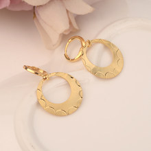 gold hoop drop earring Ethiopian/Nigeria/Kenya /Ghana Gold color Dubai african Arab Middle Eastern Jewelry Mom Gifts(China)