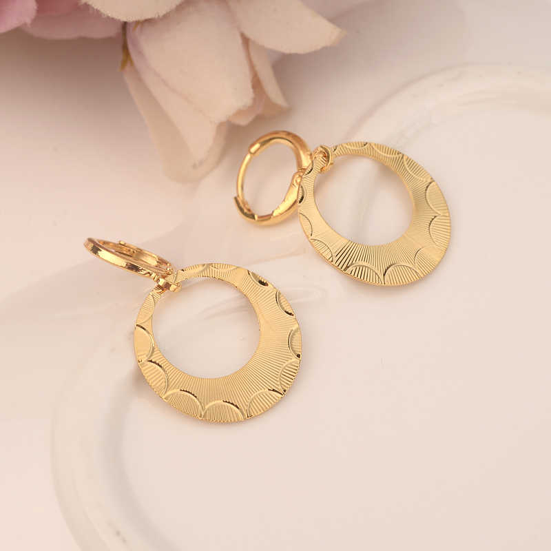 gold hoop drop earring Ethiopian/Nigeria/Kenya /Ghana Gold color Dubai  african Arab Middle Eastern Jewelry Mom Gifts
