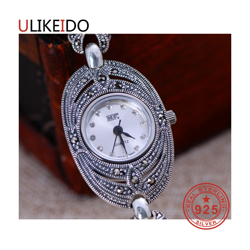 100% Pure 925 Sterling Silver Watch Men Fashion Hand Chain For Women Thai Silver Jewelry Charm Bracelet Homme 1523 925 sterling silver mens bracelets fashion domineering classic hand chain for men and women special jewelry charm bracelet 267