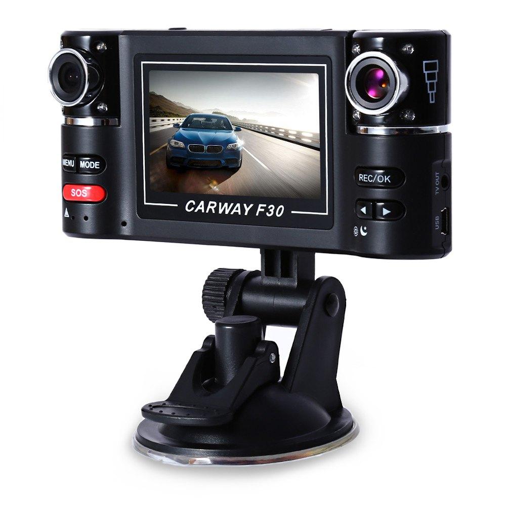 Prix pour Double lentille DVR caméscope caméra F30 double lentille 2.7 polegada Auto caméscope voiture DVR caméra HD pare - brise conduite enregistreur hot vente