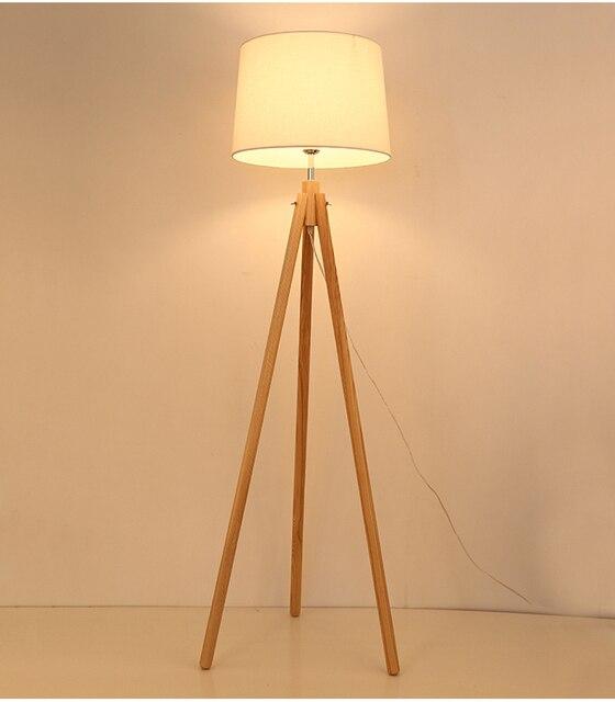 Nordischen stil holz stativ stehlampe für leseraum hotel zimmer E27 ...