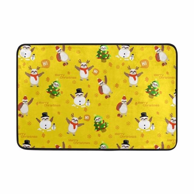 Christmas Carpet Snowmen Pattern Doormat Fashion Style Welcome Door Rug  Kitchen Floor Mat Tapis Salle De Bain,Carpet In The Bath
