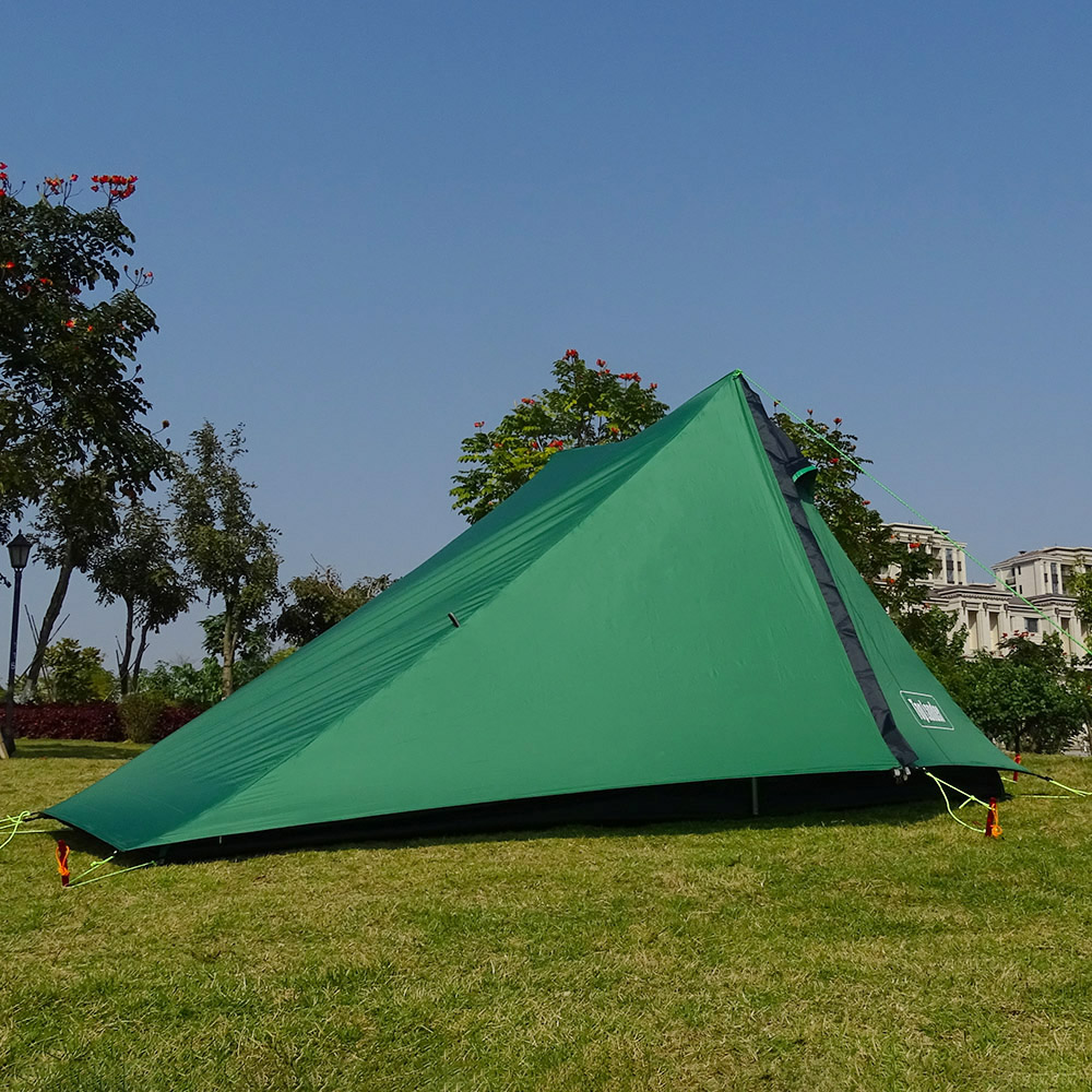 A Peak Ultra light Poleless Tent 1 2 Person for Camping Hiking Trekking Backpacking Waterproof 20D
