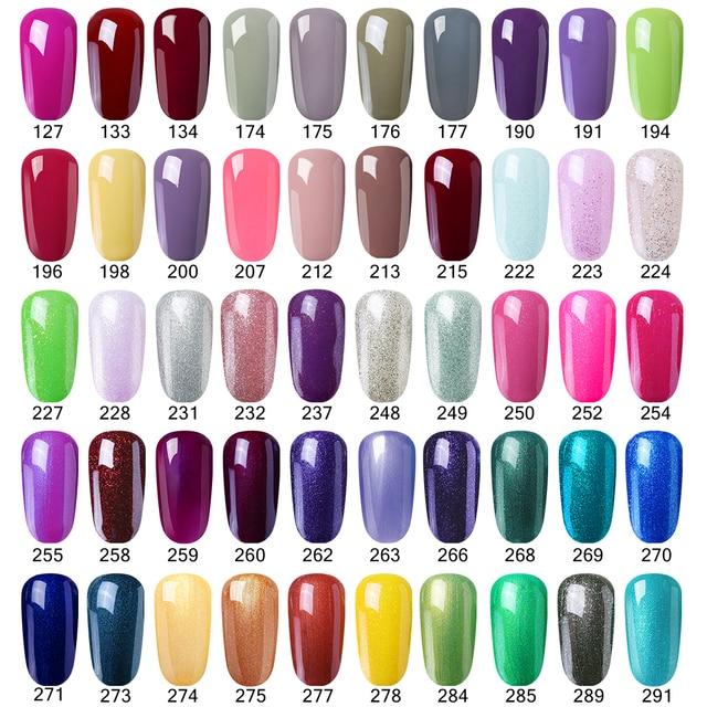 Elite99 30ml Nail art UV Gel Nagellack Tränken Weg Von Semi-permanent UV LED Gel Lacke Maniküre Lack pick 1 Von 298 Farben