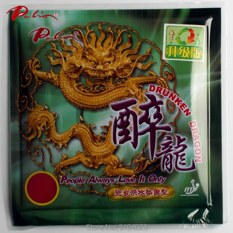 Palio Official Long Term Drunken Dragon Table Tennis Rubber Fast Attack With Loop Little Sticky Table Tennis Racket