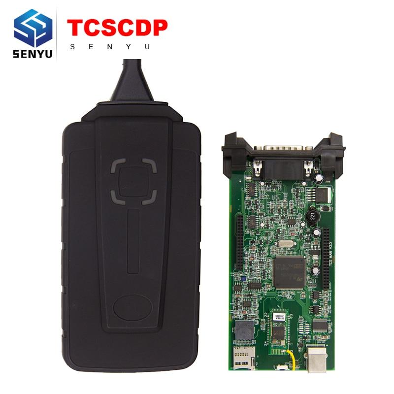 Prix pour TCS CDP 2015. R3 WoW V5.008.R2 Bluetooth pour Voitures/Camions Outil De Diagnostic TCSCDP Pro OBDII Diagnostic Scanner Avec Multi-langue