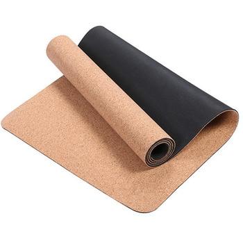 Non-slip TPE Cork Yoga Mats for Fitness Natural Pilates Gymnastics Sport Mats Yoga Exercise Pads Massage Mats