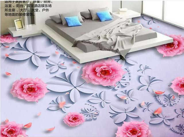 Piano personalizzato adesivi fiori rosa pvc adesivo carta da parati
