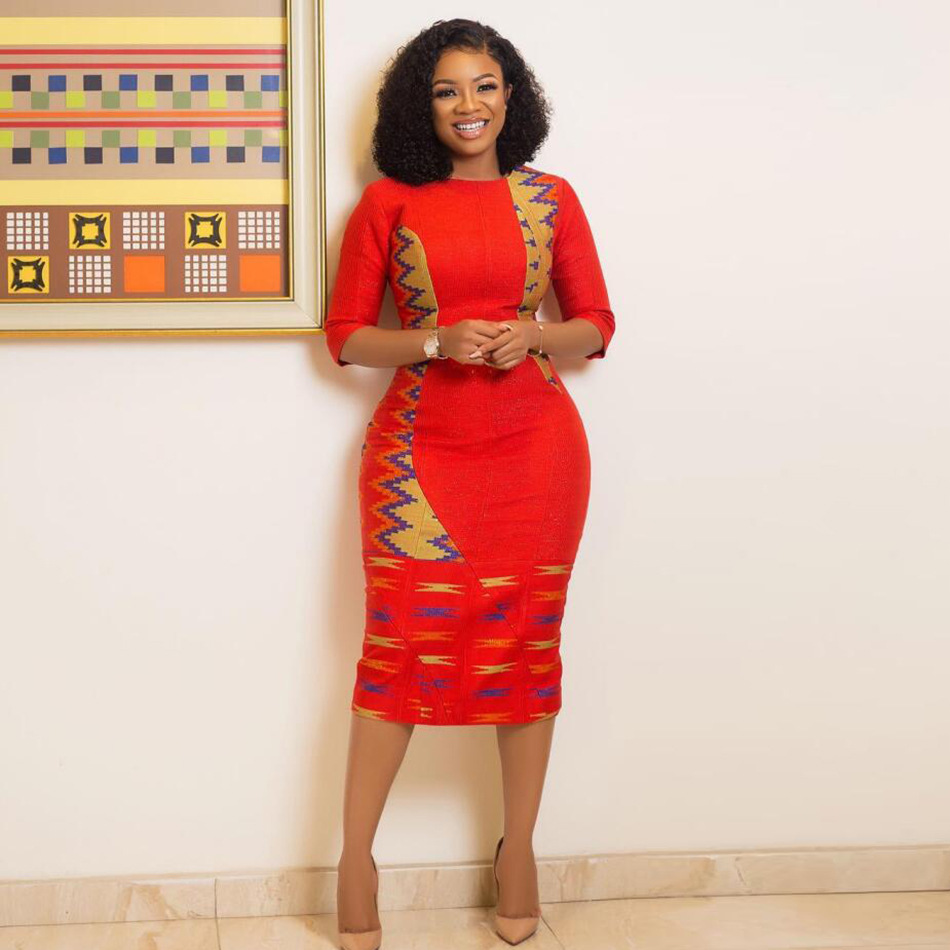2019 New Summer Sexy Fashion Style African Women Printing Plus Size Dress