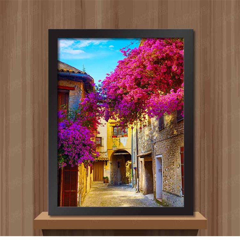 Framed Painting On The Wall For Bedroom Mediterranean