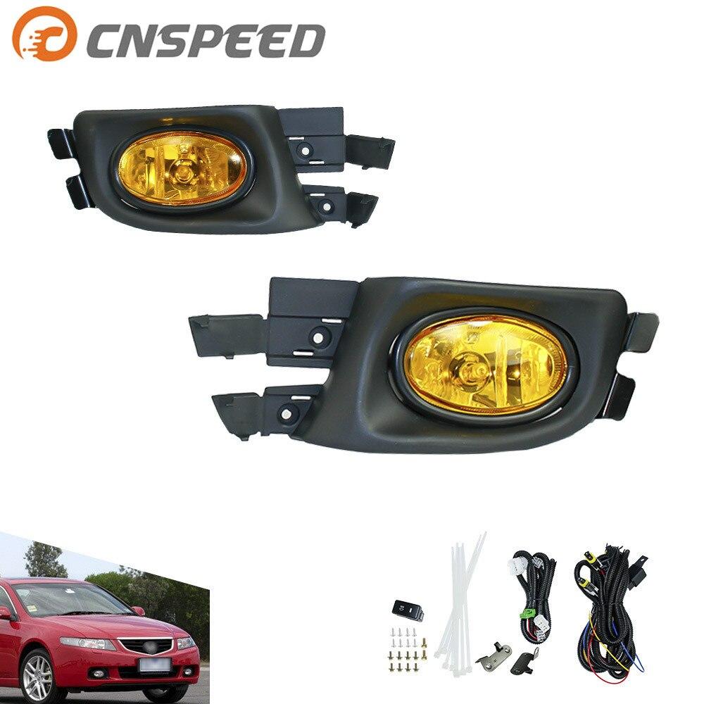 CNSPEED Fog light for Honda Accord Sedan 2004-2005(U.S TYPE) fog lamps yellow Lens Bumper Fog Lights Driving Lamps   YC100915-AB