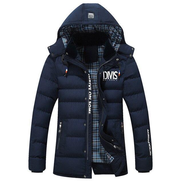 2017 BRAND Winter Jacket Men Coat Long Thicken Outwear Hooded Men's Parka 667
