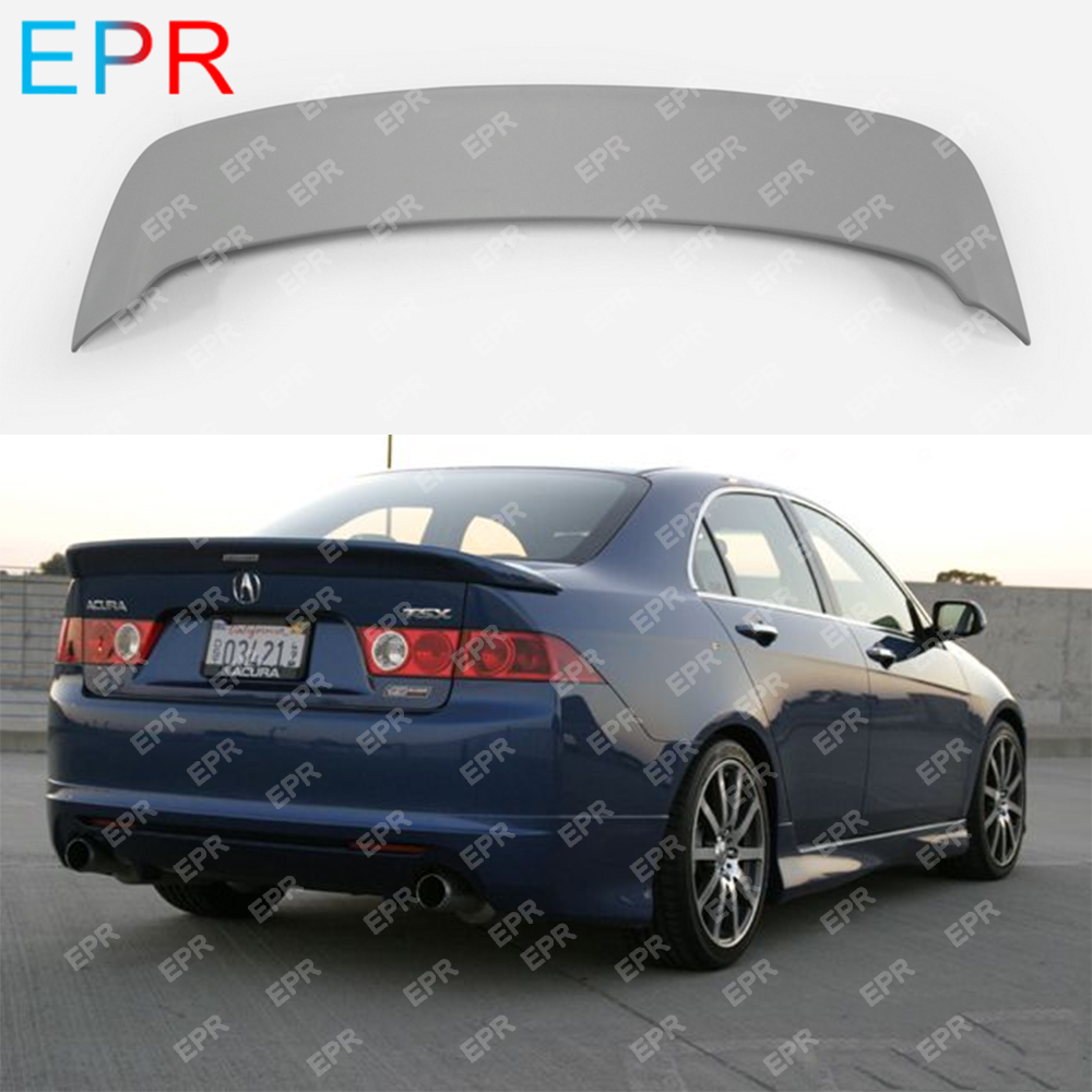 For Honda Accord CL7 MU1 Style Glass Fiber Rear Spoiler Tuning Part For Accord CL7 Fiberglass Rear Trunk Wing Spoiler(2002-2008)