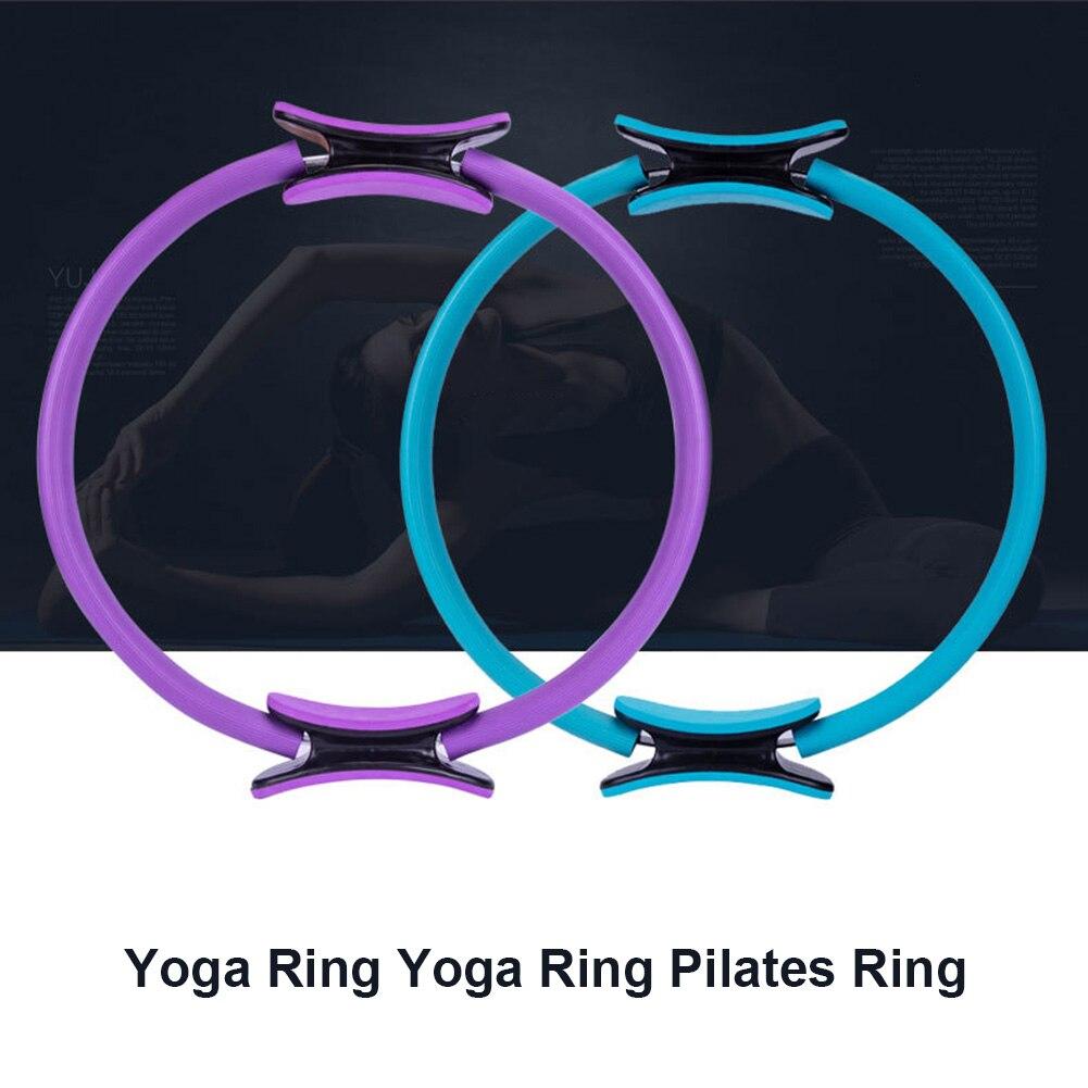 ①  4 Цвета Двойной Ручкой Кольцо Пилатес Магический Круг Умеренная Эластичность нескользящая Yoga Fitne ★