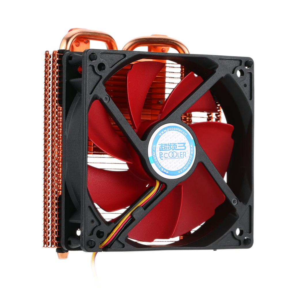 PCCOOLER CPU Cooler 2 Heatpipes Radiator Graphics Card Cooler for NVIDIA AMD Cooling VGA Fan 100mm PWM Fan For Computer 55mm aluminum cooling fan heatsink cooler for pc computer cpu vga video card bronze em88