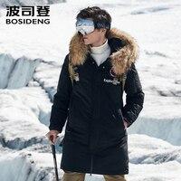 BOSIDENG 2018 new goose down jacket for men harsh winter thicken outwear real fur collar waterproof windproof B80142147