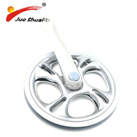 Double Disc Road Bike Silvery Crankset Chain Wheel170mm Chainwheel Gear Bracket Polycarbonate Protector Part Bicycle Accessory