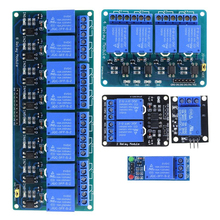 цена на 1 2 4 8 Channel DC 5V Relay Module with Optocoupler Low Level Trigger Expansion Board for arduino Raspberry Pi