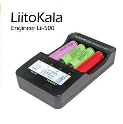 جديد Liitokala lii500 الذكية لوحة تحكم شاملة في التلفزيون الإل سي دي ليثيوم أيون نيمه AA AAA 10440 14500 16340 17335 17500 18490 17670 18650 شاحن بطارية