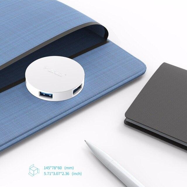 ORICO Mini HUB USB 4 ports Usb 3.0 séparateur OTG Hub avec Micro Interface dalimentation USB pour ordinateur portable ordinateur Usb 3.0 Hub